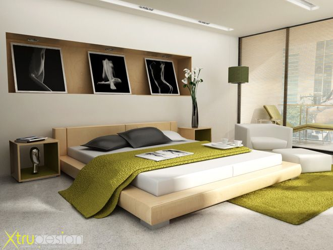 modern japanese bedroom decorating design ideas with abstract graffiti wall pictures art fresh and modern bedroom interior design for teenagers boys and - Bedrooms Interior Designs