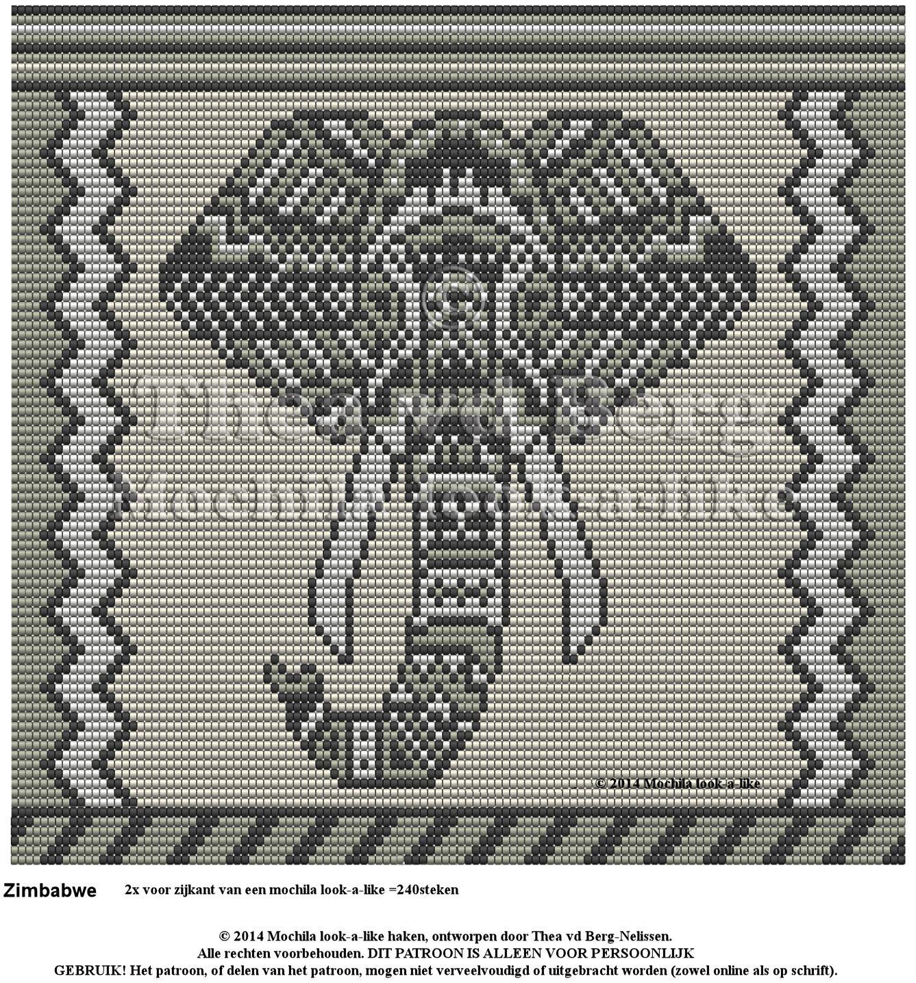 Elephant Wayuu Mochila pattern | Mochilas Wayuu | Pinterest ...