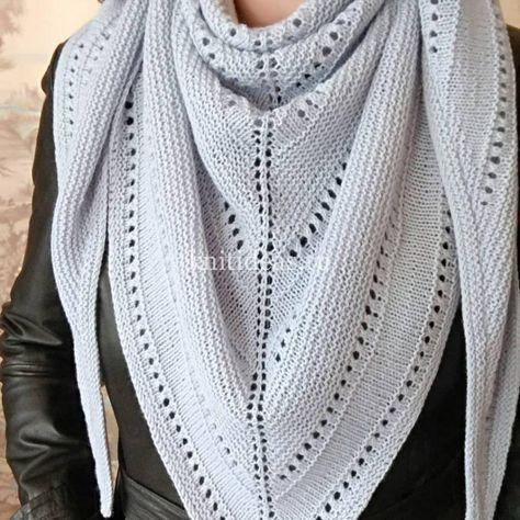 вязание спицами узоры схемы платки