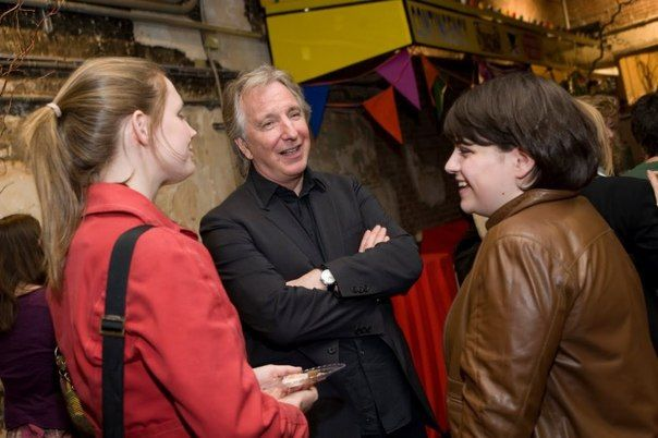 "On April 20, 2010 celebration of a premiere of the performance ""Creditors"", Brooklyn Academy of Music, New York. ""Creditors"" directed by Alan Rickman.  Photo: ""The New York Times"" April 22, 2010"