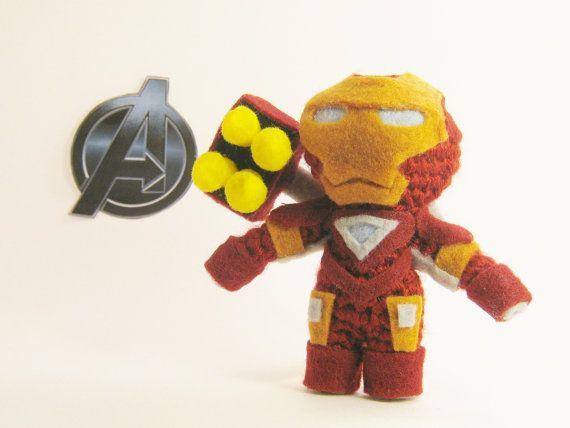 The Avengers Iron Man Crochet Amigurumi Doll by chubbyninjacrafts, $30.00