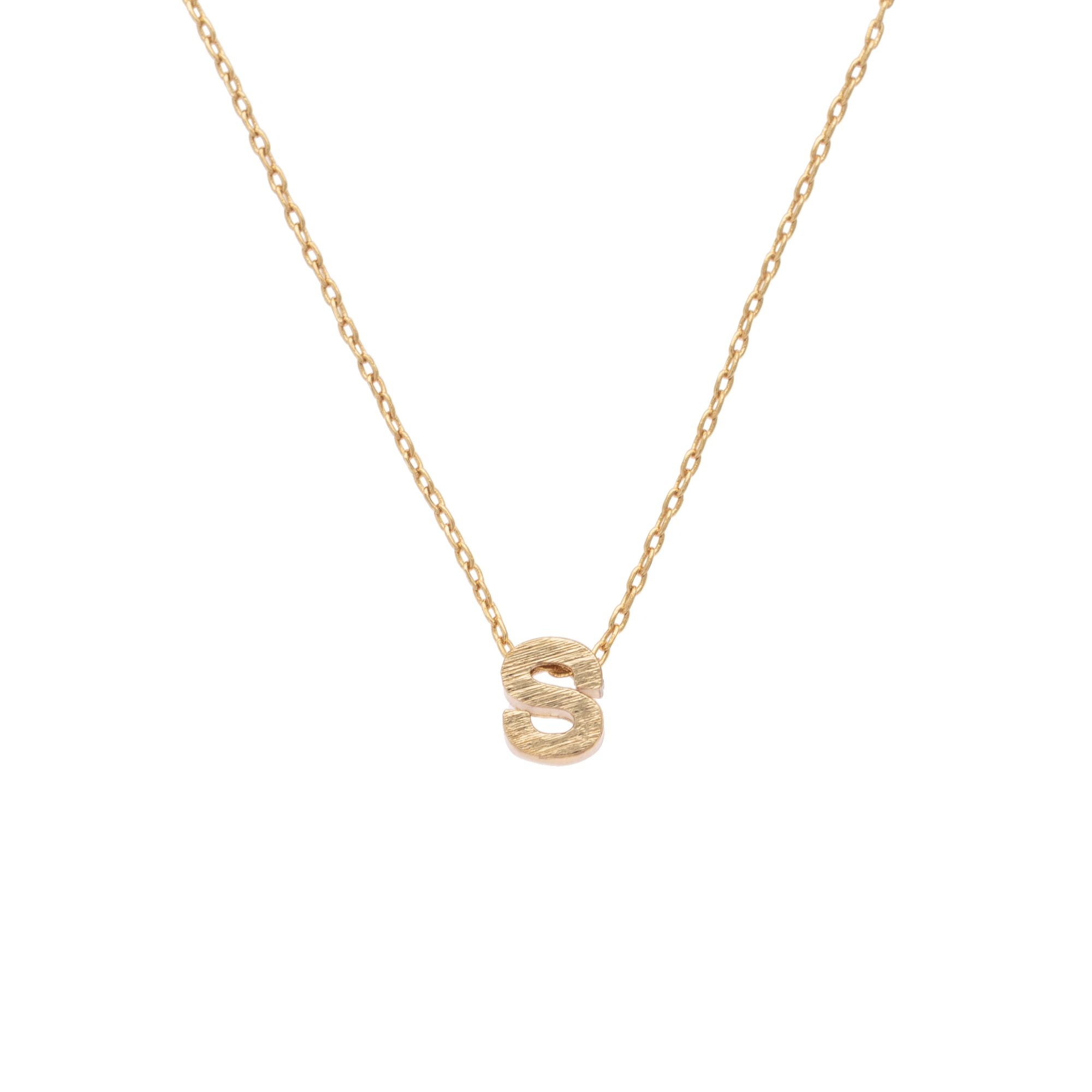 necklace gold glared the letter alphabet necklaces products a
