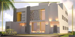 تصاميم واجهات فلل بازار للتصميم الداخلى والديكور Exterior Design House Styles Luxury Design