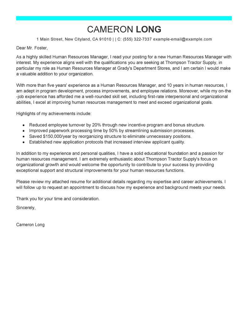 Surat Lamaran Kerja HRD Dalam Bahasa Inggris Bahasa