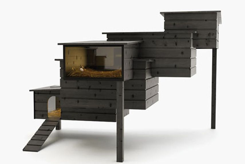 One of the most architectural-minded hen houses we've ever seen, this so-called Breed Retreat was created by Dutch designer Frederik Roije.