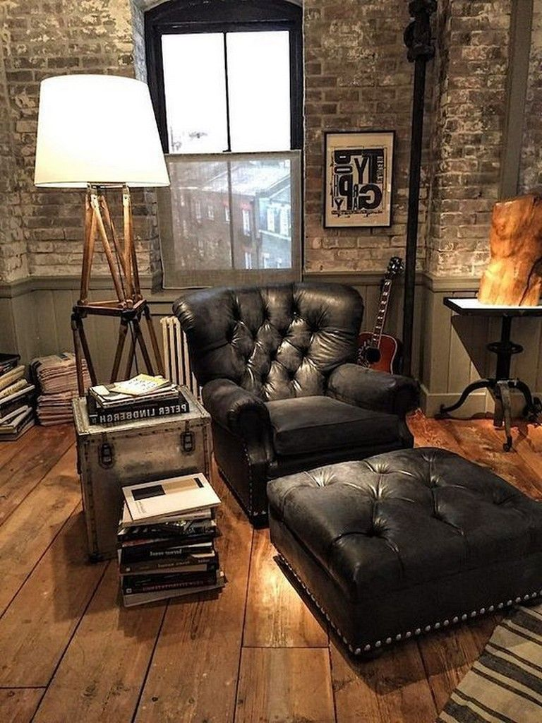 5+ Cozy Masculine Living Room Design Ideas With Rustic Style