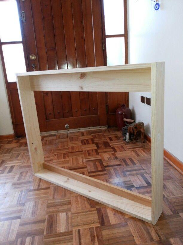 Marco de madera para ocultar TV. | Marcos | Pinterest | Marcos de ...