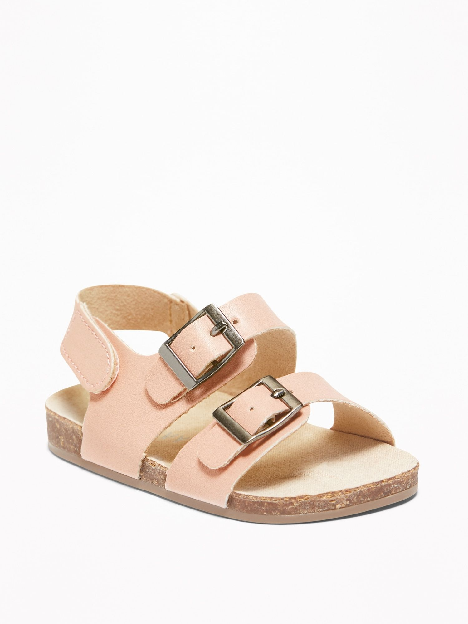 48480ad5d3b40 Faux-Leather Double-Buckle Sandals for Baby | m i s s i o n ...