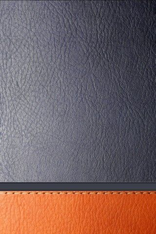 Gray and Orange Leather HD Best Mobile Wallpaper