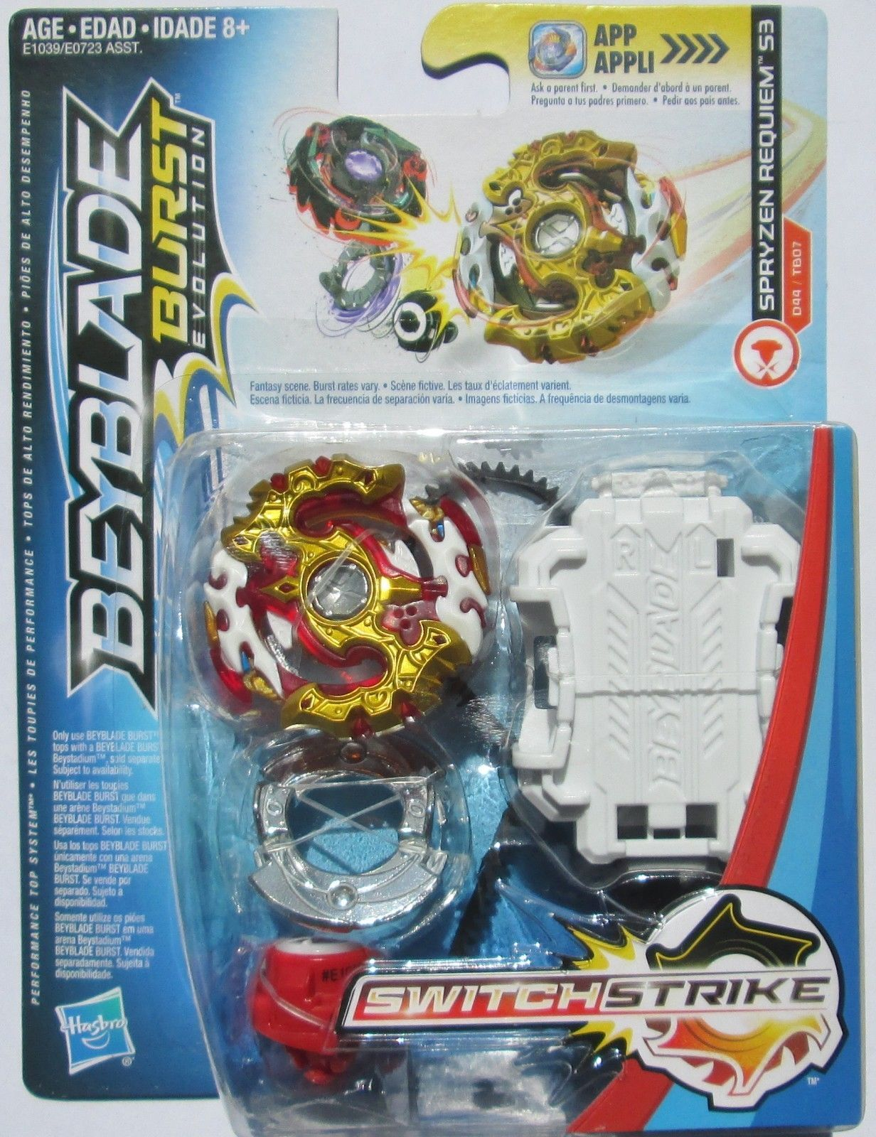 12PCS Beyblade Burst Set Spinning avec Grip Launcher Boîte de rangement portable