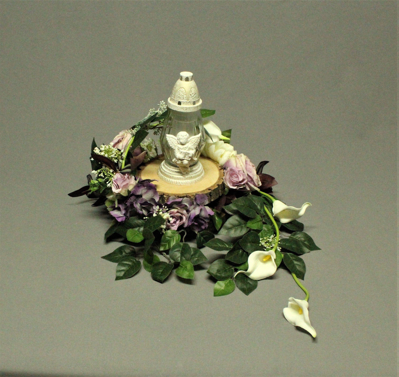 Dekoracja Nagrobna Znicz Kwiaty Sztuczne Dekoracja Na Pomnik Stroik Na Grob Dekoracje Cmentarne Card Box Wedding Christmas Ornaments Holiday Decor