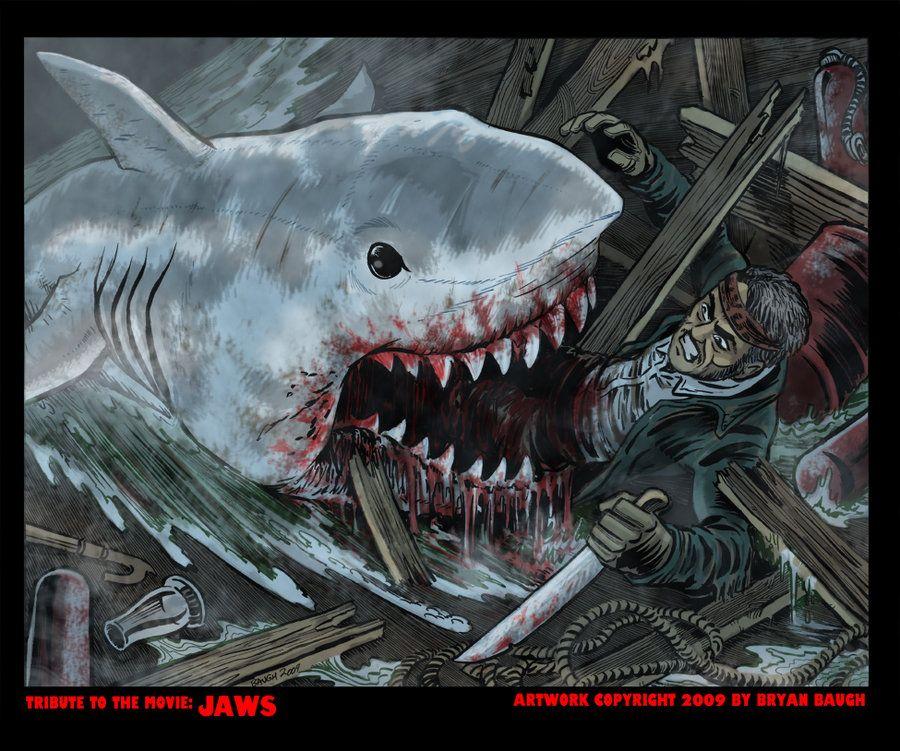 Jaws By Bryanbaugh On Deviantart Shark Art Movie Art Jaws Movie