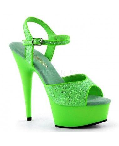 Sandales fun et color color et Vert fluo PLEASER 004b44