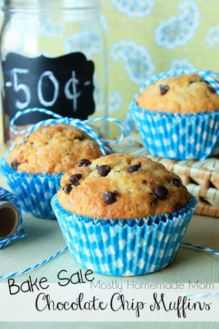 Bake Sale Chocolate Chip Muffins #bakesaleideas