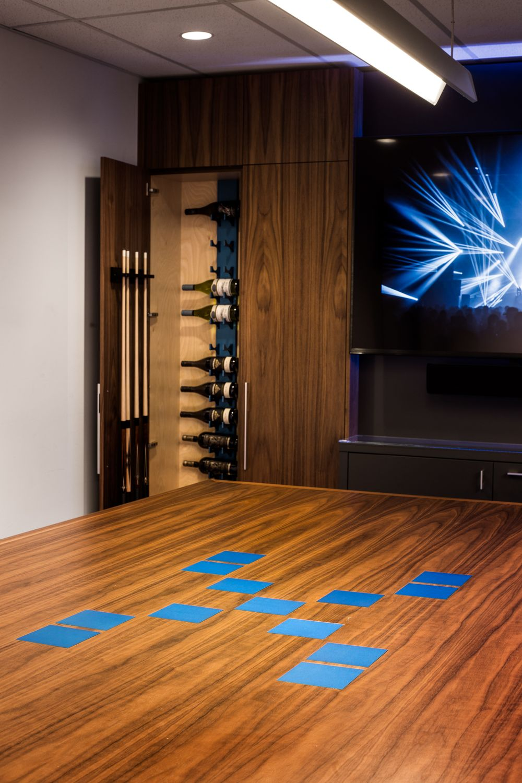 Blue Wine Rack In Meeting Room Wall Mounted Wine Rack Wine Closet Wine Rack