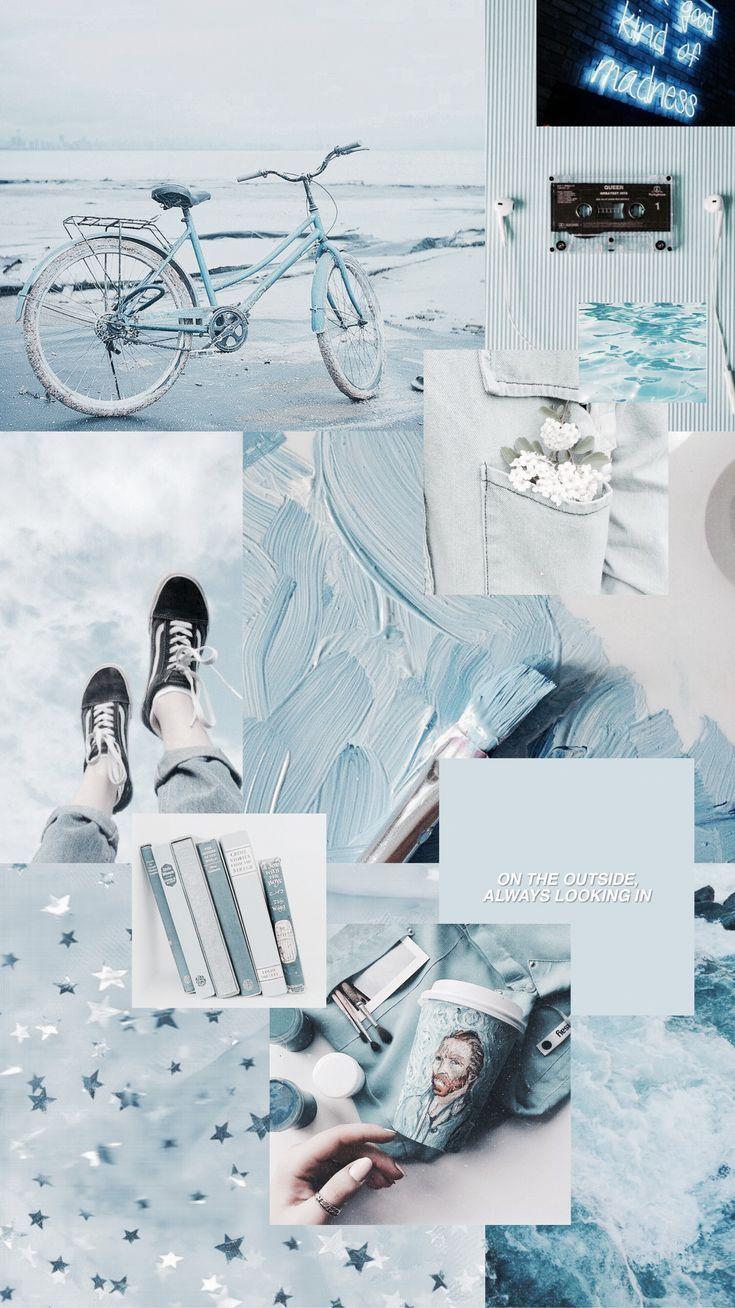 Blaue ästhetische Tapete #blueaesthetic