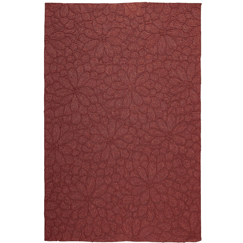 Red calliope mum rug spice polypropylene outdoor