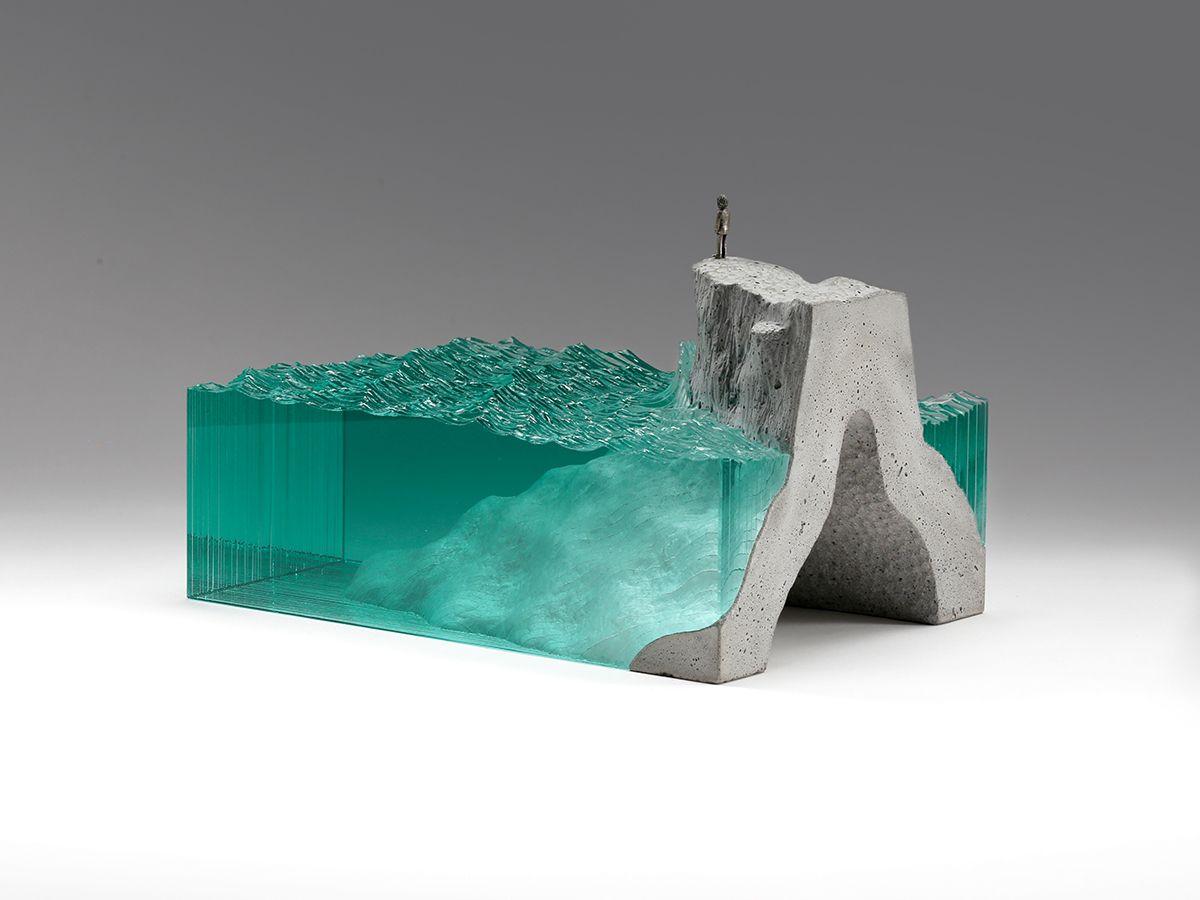 The Observer Concrete Sculpture Making Glass Glass Sculpture
