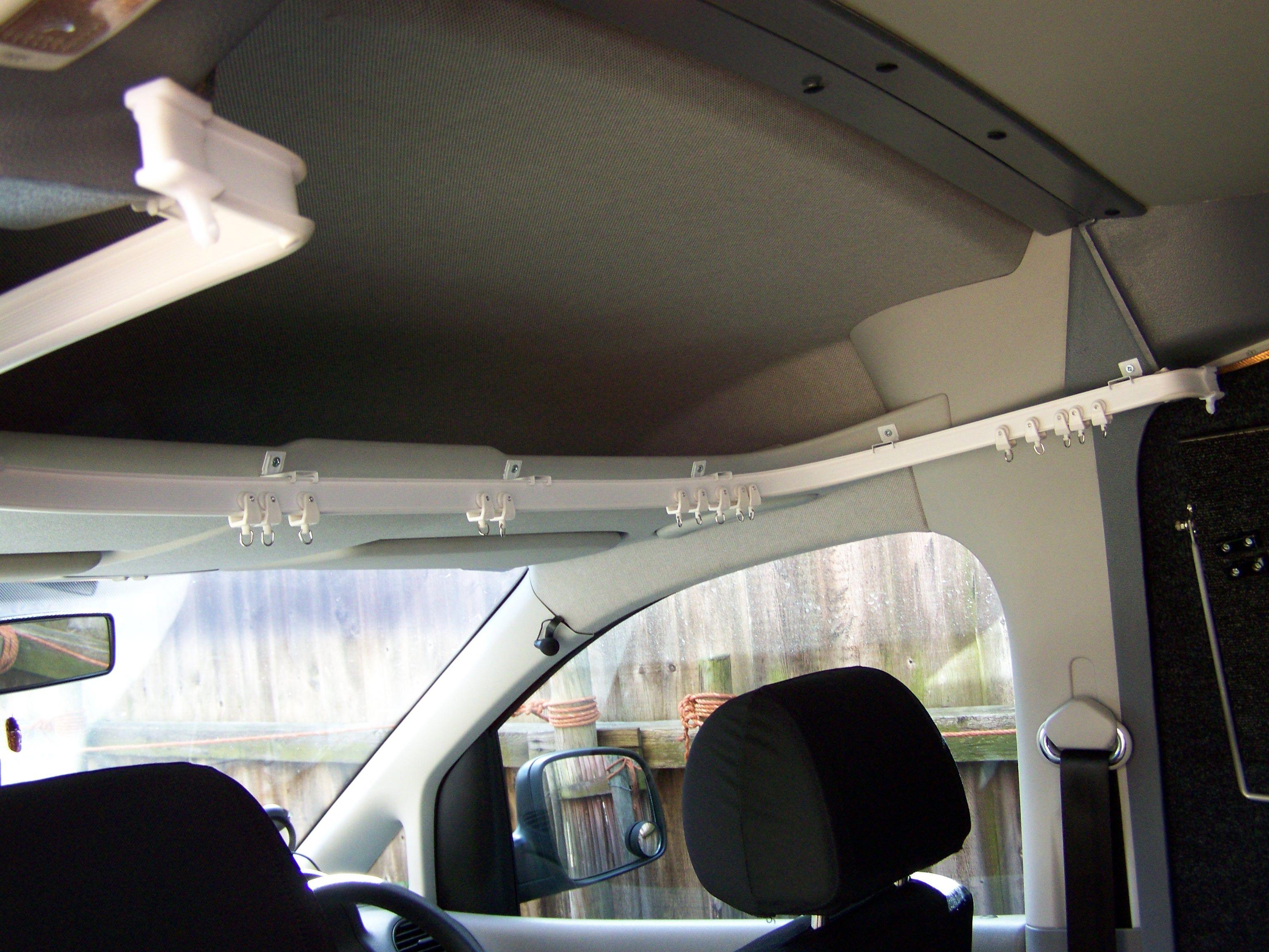 VW CADDY Solar camper front curtain rail side view   MY VW CADDY ...