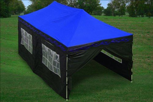 10x20 Pop Up 6 Wall Canopy Party Tent Gazebo Ez Blue Flame F Model Upgraded Frame By Delta Canopies Click Image To Re Party Tent Best Tents For Camping Tent