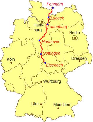 Jakobsweg Karte Deutschland.übersichtskarte Europe Euro Asia Jakobsweg Deutschland