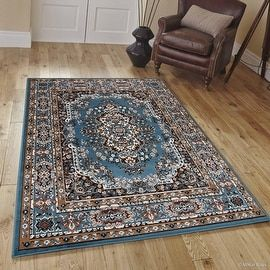 """Allstar Blue Woven High Quality Rug. Traditional. Persian. Flower. Western. Design Area Rug (5' 2"""" x 7' 1"""")"""