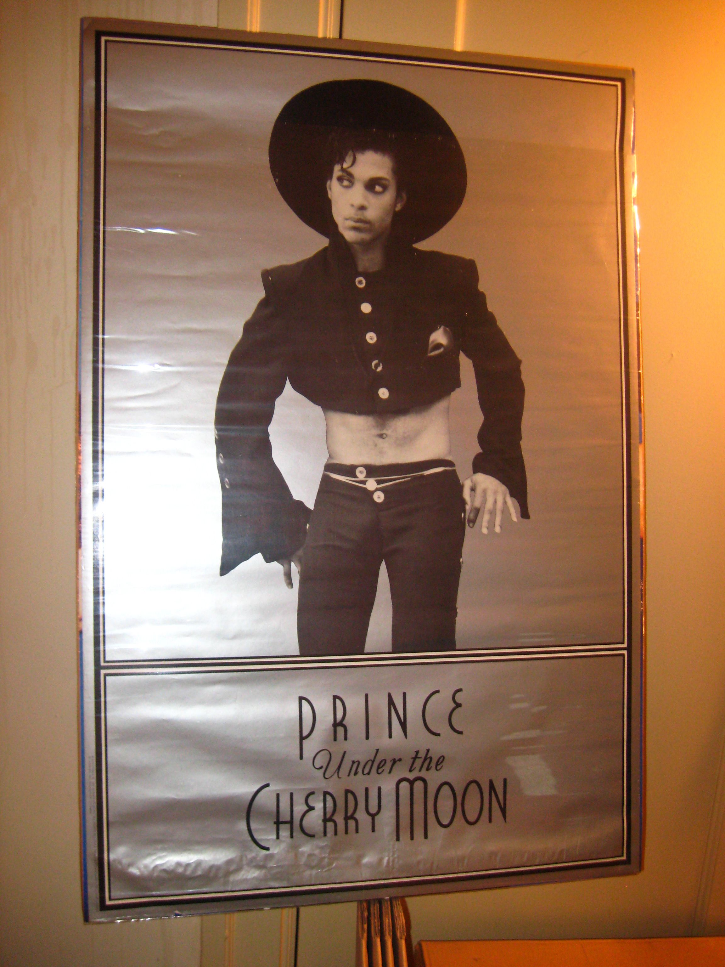 Official Under The Cherry Moon movie poster with Prince in his mountain outfit