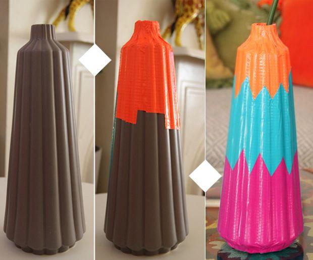 just add color. DIY vase.