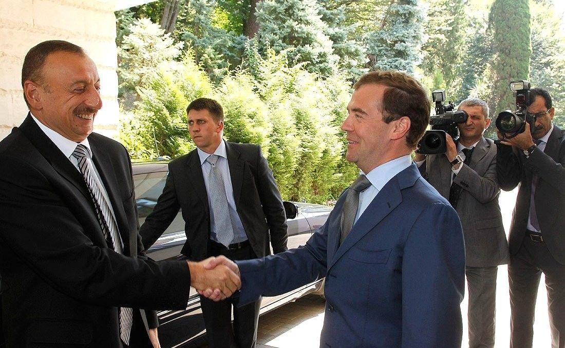 With President ofAzerbaijan Ilham Aliyev.