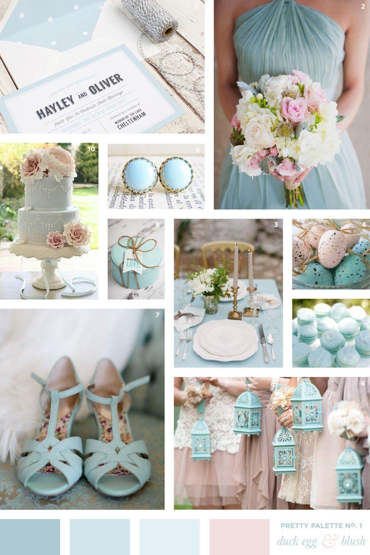 Duck Egg Blue Blush Wedding Colour Palette Flourish Lace Bespoke Stationery And