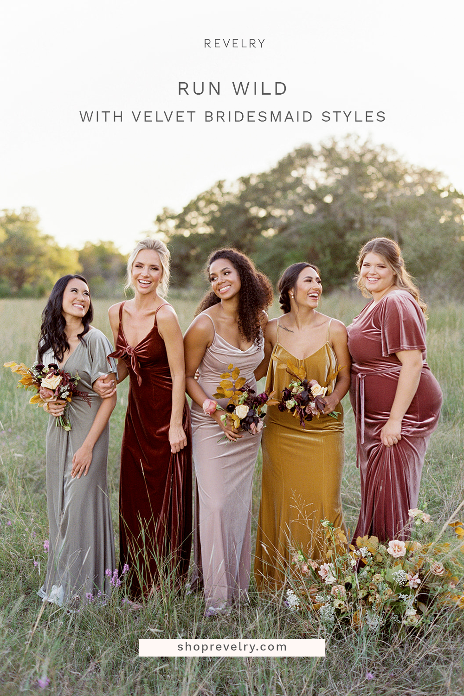 Velvet Bridesmaid Styles Bridesmaid Wedding Bridesmaids Bridesmaid Dresses [ 1500 x 1000 Pixel ]