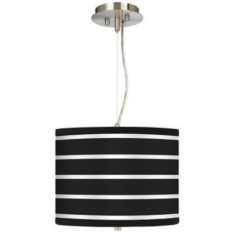 "Bold Black Stripe 13 1/2"" Wide 2-Light Pendant Chandelier | LampsPlus.com"