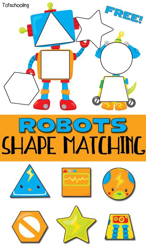 picture relating to Printable Puzzles for Preschoolers identified as Robots Form Matching Puzzle for Babies Science