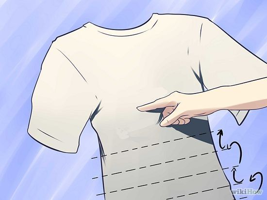 f26488759849 3 Ways to Tie Dye a Shirt - wikiHow - and how to make different patterns on  your shirt by folding it up differently