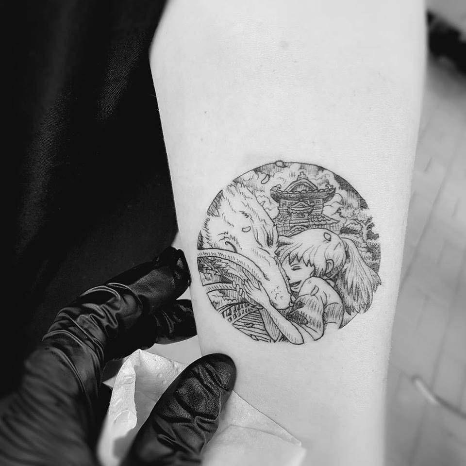 Spirited Away Tattoo By Alexandyr Valentine Original Illustration By Kerby Rosanes Spirited Away Tattoo Best Sleeve Tattoos Ghibli Tattoo