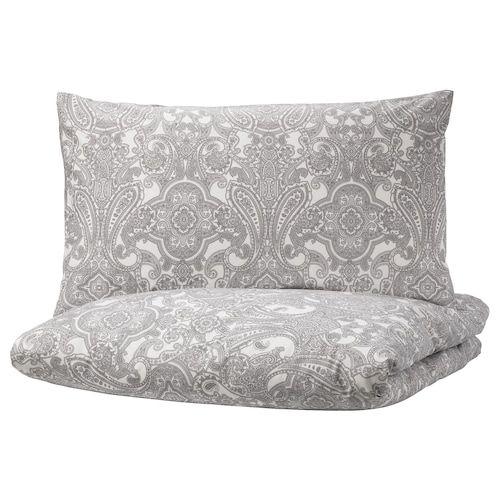 Alvine Kvist Duvet Cover And Pillowcases White Gray In