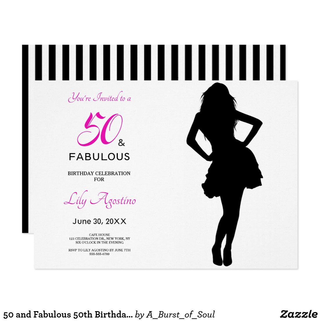 50 and Fabulous 50th Birthday Invitation | Pinterest | 50th birthday ...