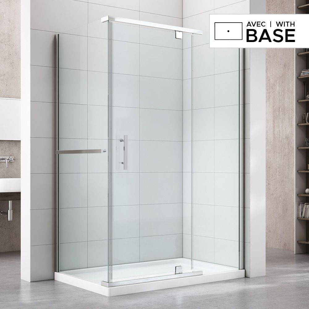 48 X 32 Shower Kit With Door And Right Side Corner Base Corner