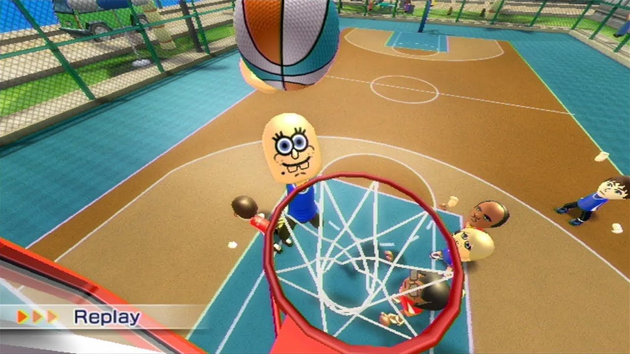 Wii Sports Resort 3on3 Basketball Pickup Game Wii