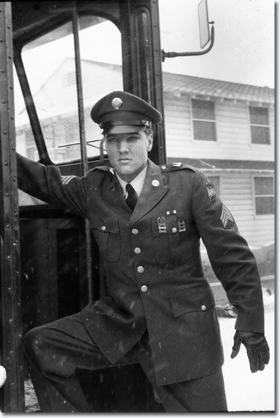 This Photo Was Taken When Elvis Arrived At Mcguire Air