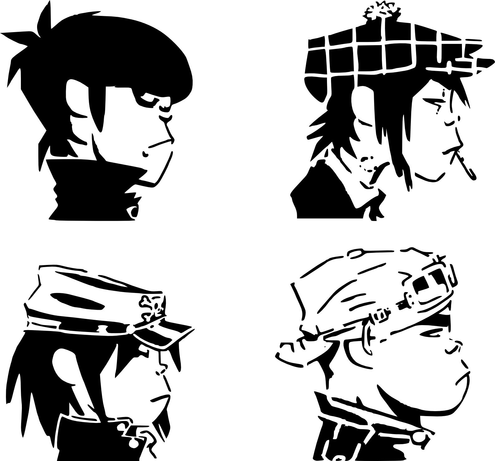 O Gorillaz Stencil