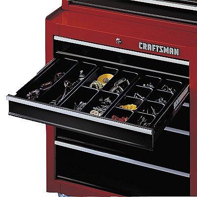 Tool Chest Drawer Organizer Maximize Utility With Sears Craftsman Tools Craftsman Tools Chest Tool Chest Organization