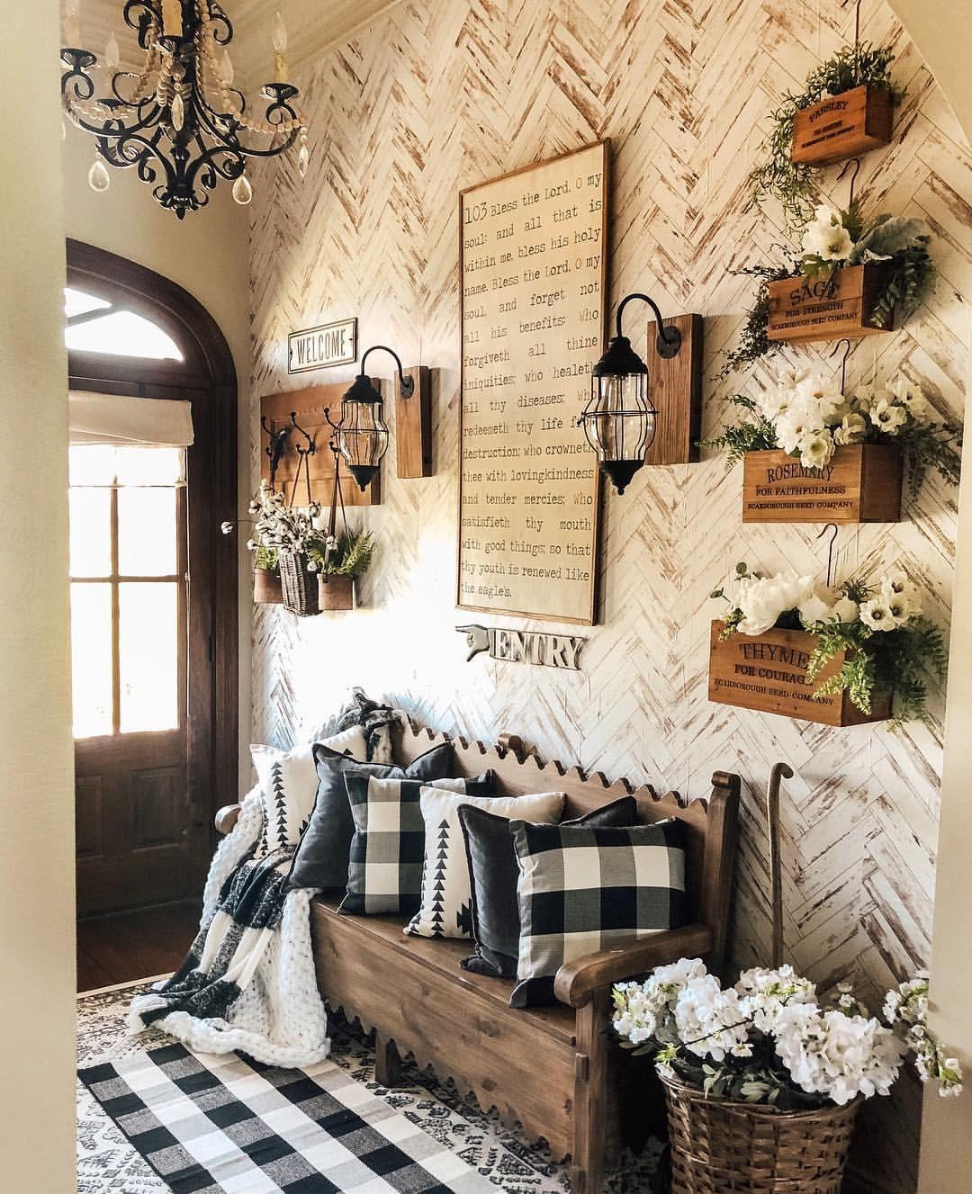 Farmhouse Entry Farmhouse Entryway Peelandstick Wallpaper