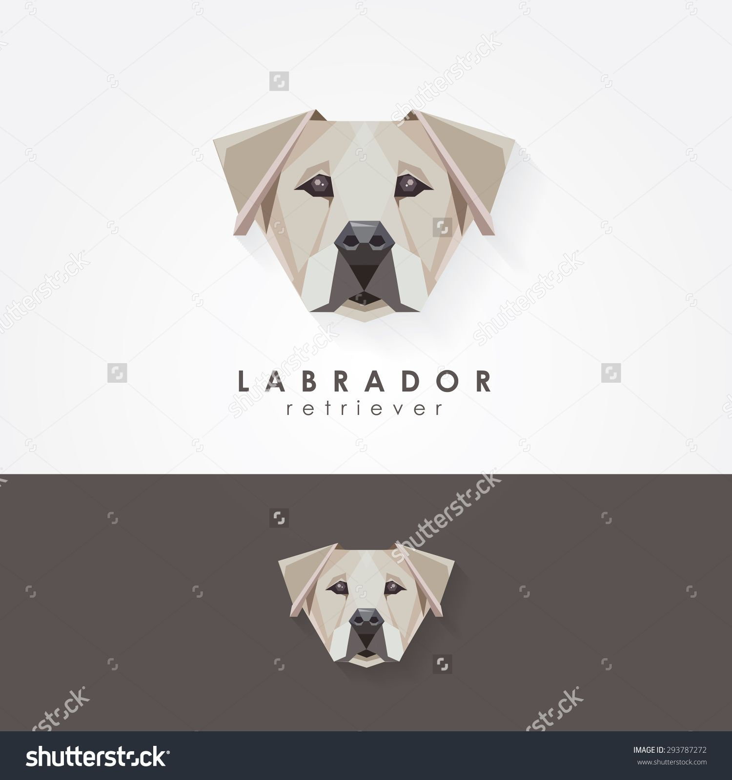 Labrador Retriever Polygonal Geometric Contemporary Logo Icon