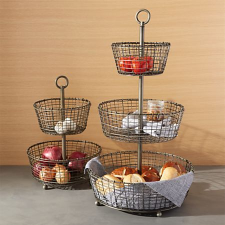 Bendt Gold 2 Tier Wire Fruit Basket Reviews Crate And