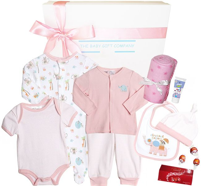 Welcome Home Baby Girl Gift Box contains an adorable ...