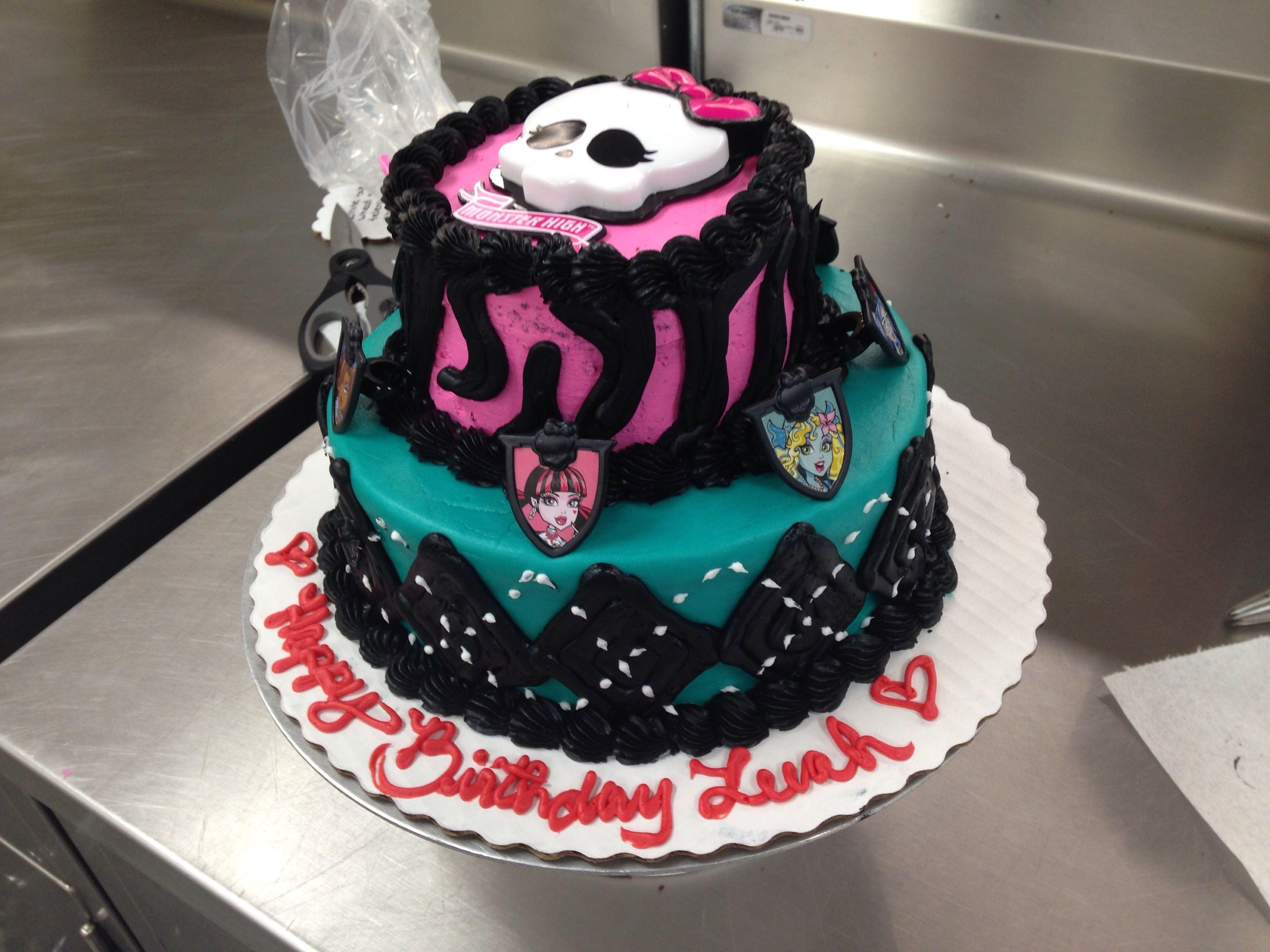 Astonishing Walmart Birthday Cake Fresh Custom Order Monster High Two Tier Personalised Birthday Cards Veneteletsinfo