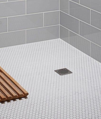 floor tiles topps tiles hexagonal white mosaic they do black too