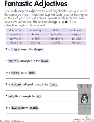 Descriptive Adjectives: Fantastic! | The fairy, Free printables ...