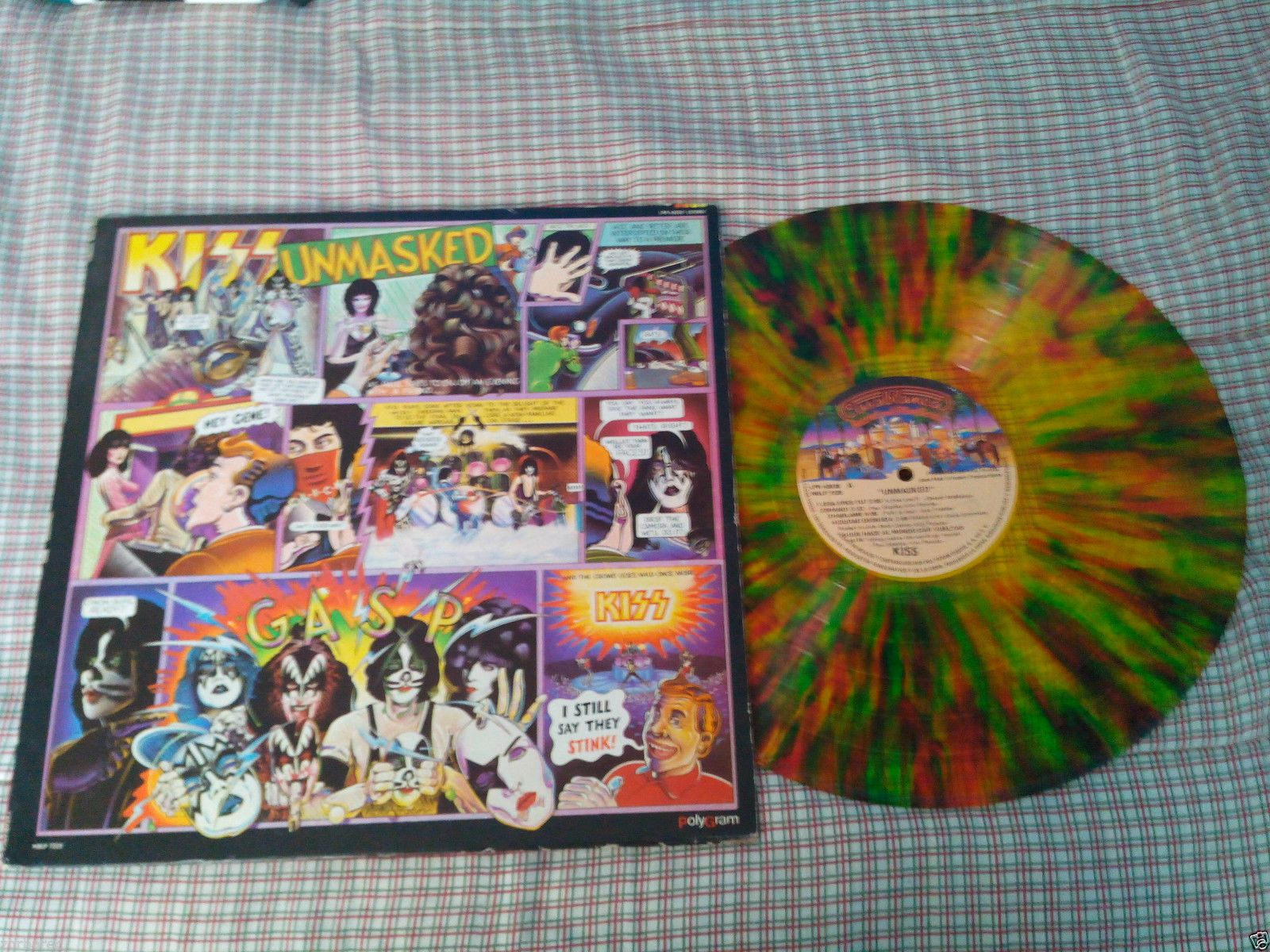 Kiss Unmasked Limited Edition Multicolor Vinyl Pressing From Mexico Vinyl Junkies Vinyl Records Kiss Pictures